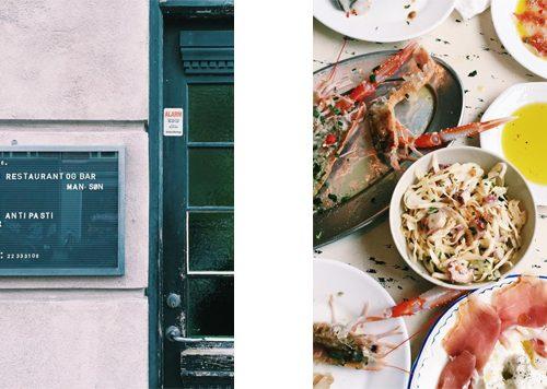 Antipasti restaurant Osteria 16, Kopenhagen