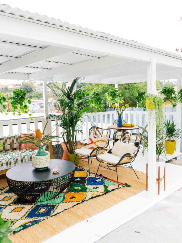 5 snelle manieren om van je balkon/ patio/ postzegel een klein boho paradijs te maken