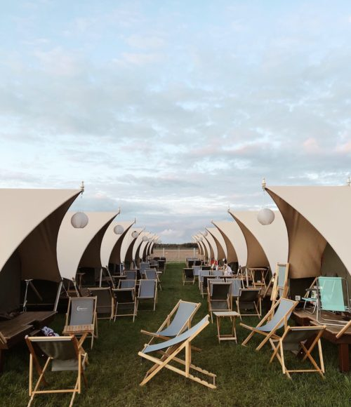 Glamping op Lowlands: Gllamcamp van CampSolutions