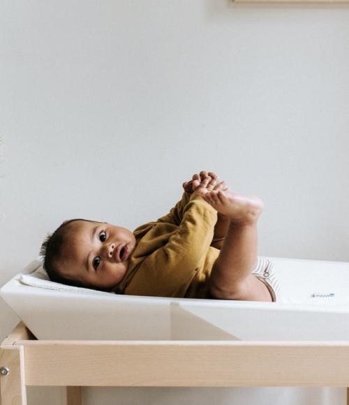 Baby musthave: het verschoon- en aankleedkussen van Moomu