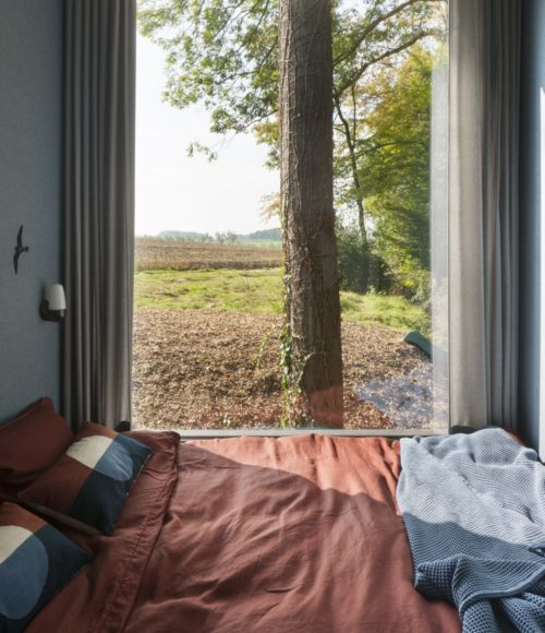 Een prachtig houten huis in de Belgische natuur: Loof Cabin