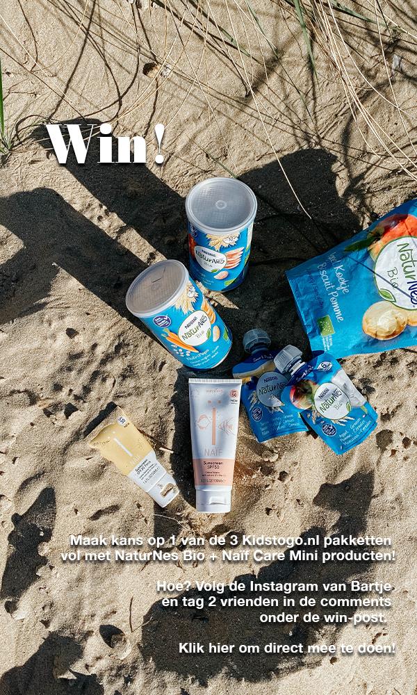 Win een Kids to Go pakket! met NaturNes Bio en Naif