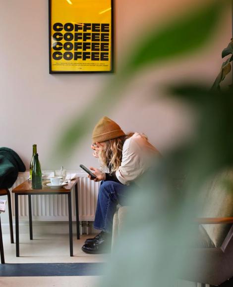 Koffie in Amsterdam West bij Schuurmanoomkensgrassotti