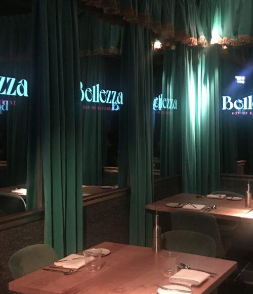 Restaurant Bellezza, pop-up by Arturo Dalhuisen