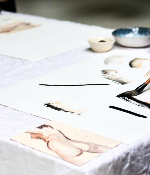 Illustratie workshop: Sella Molenaar bij The White Door Studio