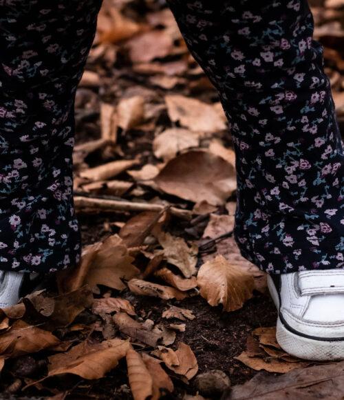 Leggings voor kinderen van recycled stoffen: vlinn