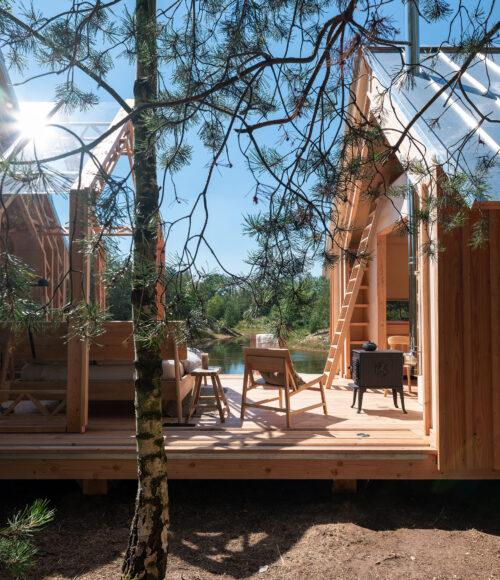 picture perfect logeerstek in het groen: design Cabin ANNA op Holenberg (brabant)