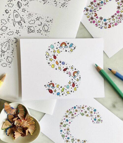 Doodle-artworks: kunst voor koters in stijl