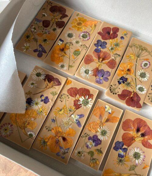 Bloemen chocolade van Anne Fleur Sanders