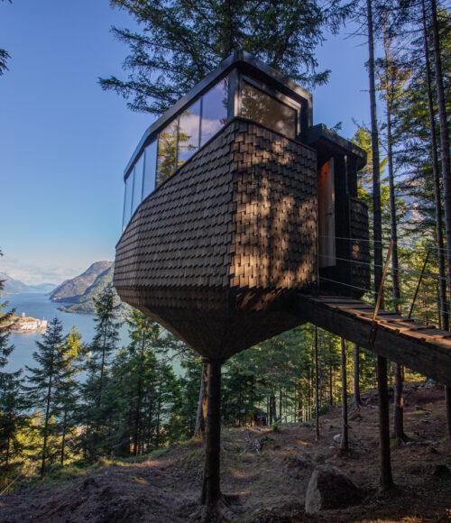 Woodnest treehouse in Noorwegen